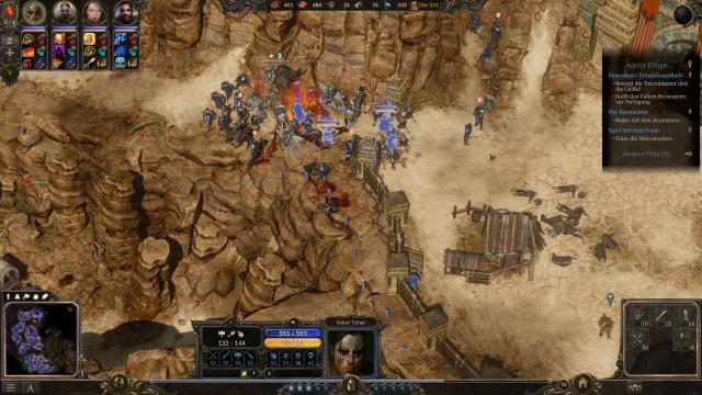 Screenshot: Engstellen muss man taktisch gut nutzen, um großen Gegner-Armeen Herr zu werden