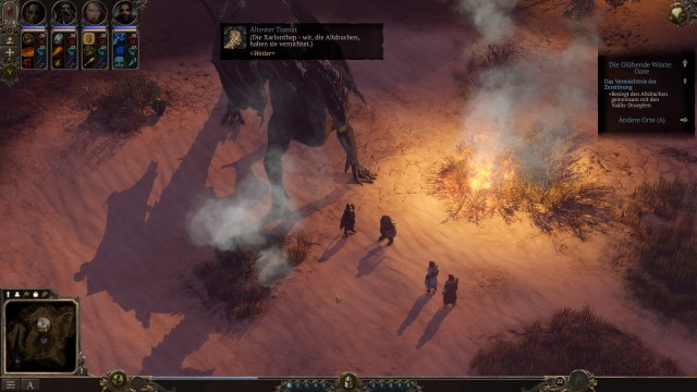 Screenshot: Drachen tauchen auch auf, spielen aber keine große Rolle