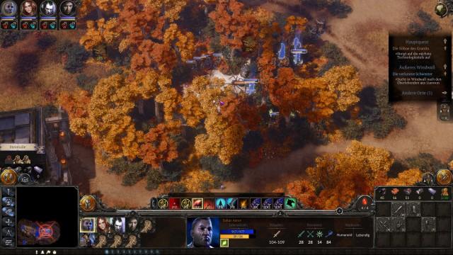 Screenshot: Das Addon spielt einige Monate nach dem Hauptspiel, gut zu sehen an den herbstlichen Bäumen