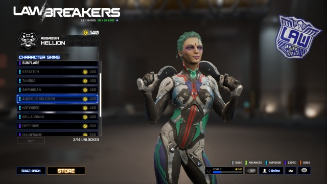 Screenshot: Lawbreakers Skin Beispiel