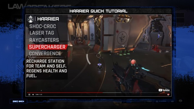 Screenshot: Video Tutorial in Lawbreakers