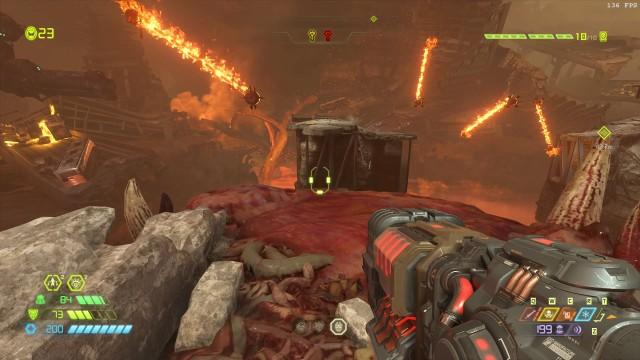Screenshot: In den Sprungpassagen gibt es drehende Flammenketten wie in Super Mario