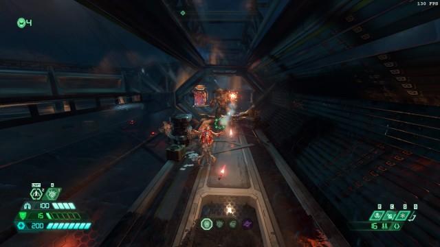 Screenshot: Der DLC scheut sich auch nicht davor, große Gegner in enge Korridore zu packen