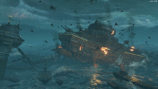 Screenshot: Die Inszenierung legt eine Schippe drauf, dürfte aber immer noch hinter einem durchschnittlichen Call of Duty anstehen