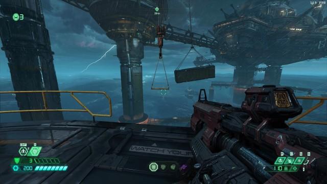 Screenshot: Sprungeinlagen sind weiterhin ein Thema, dieses mal mit Zeitlimit durch sich bewegende Container