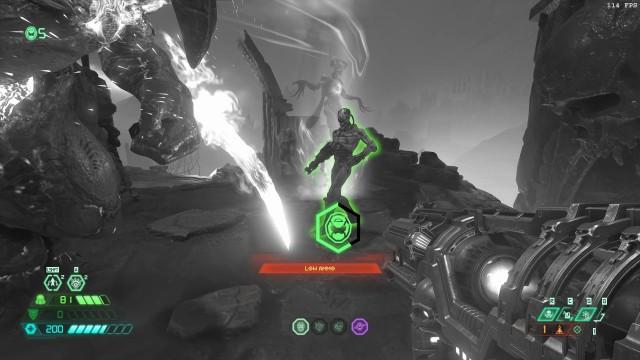 Screenshot: Erlaubt es, ohne Verlust eines Extralebens weiter zu spielen, wenn man de verantwortlichen Dämonen innerhalb eines kurzen Zeitlimits erledigt