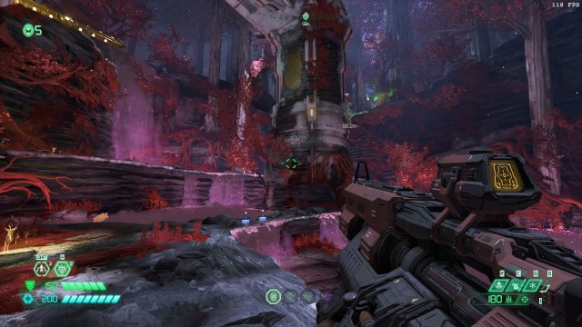 Screenshot: Der neue Level auf Urdak ist erinnert an einen überwucherten, korrumpierten Wald