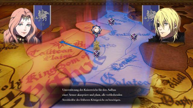 Screenshot: Die aktuellen politischen und kriegerischen Entwicklungen im Krieg werden auf einer Karte mit einfachen Symbolen dargestellt