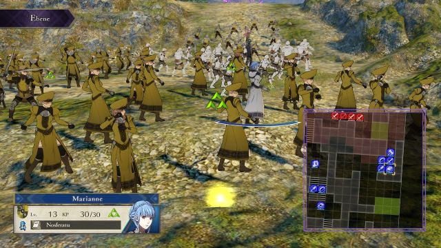 Screenshot: Nah heran gezoomed kann man die Bataillone sehen