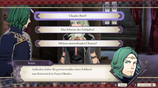 Screenshot: Die deutschen Texten wirken manchmal etwas arg salopp und passen nicht zu ersten Stil des Spiels