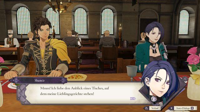 Screenshot: Aufgrund der vielfältigen Boni habe ich sehr viel Zeit mit Essen mit den anderen Charakteren verbracht