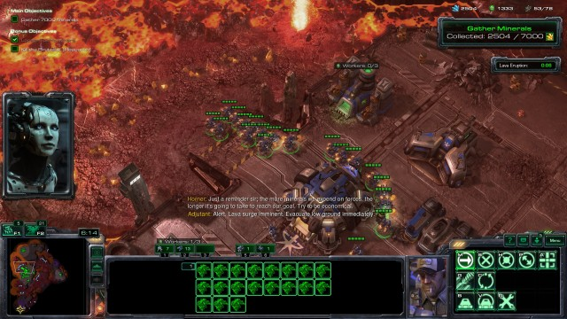 Screenshot: StarCraft 2 in einer seiner ikonischten Missionen