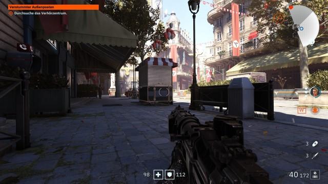 Screenshot: Youngblood spielt im nachwievor besetzten Paris