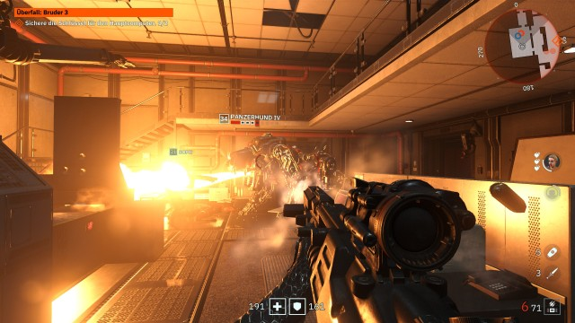 Screenshot: Youngblood will eine Art RPG sein, das merkt man aber hauptsächlich an den Zahlen über den Gegnern