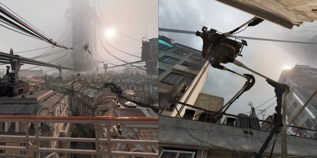 Screenshot: Half Life: Alyx. Die Stimmung ist beeindruckend und wird durch die VR noch verstärkt.