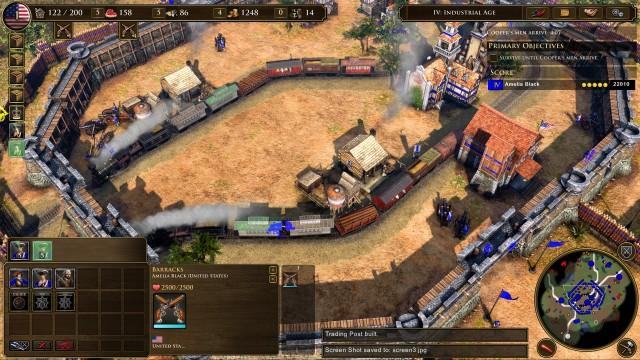 Screenshot: In einigen Missionen werden einzelne Features wie die Handelsposten besonders in den Fokus gerückt