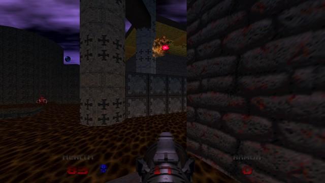 Screenshot: Um Gegner über oder unter der eigenen Figur sorgt das Auto-Aim - nicht immer so gut wie hier.