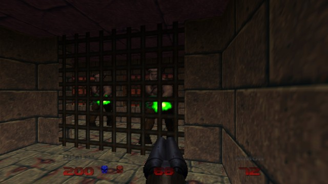 Screenshot: Immer wieder findet man starke Gegner eingesperrt in Käfigen - was nicht immer gut ist