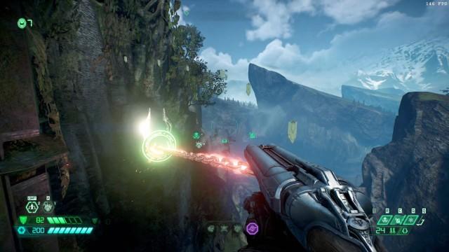 Screenshot: Die neuen Schwungknoten verleihen dem Slayer noch mehr Mobilität in Sprungpassagen