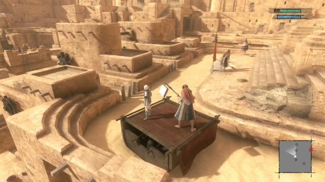 Screenshot: Facade mit seiner labyrinthartigen Struktur und dem Fluss aus Sand gehört zu den ungewöhnlichsten Orten, die ich jemals in einem Videospiel besucht habe