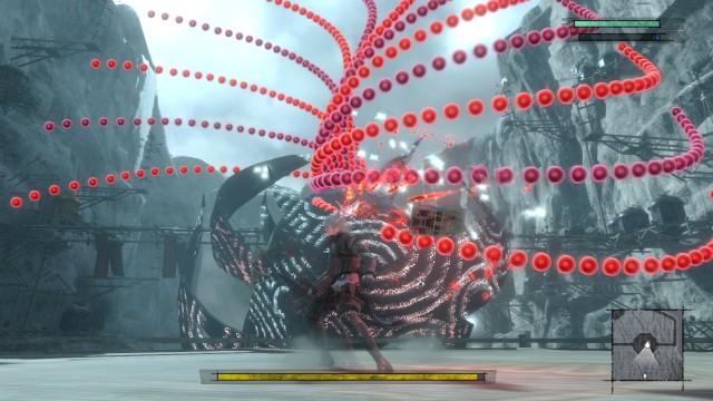 Screenshot: Die Gegner werfen in bester Bullett-Hell-Manier mit Projektiven um sich