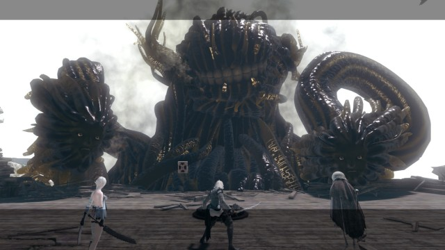 Screenshot: In den Bosskämpfen geht gegen ungewöhnliche, riesige Shades