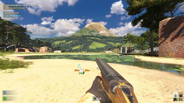 Screenshot: So schöne Aussichten gibt es im Spiel nur selten