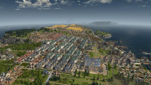 Screenshot: Screenshot meiner voll ausgebauten Insel im Endlosspiel.