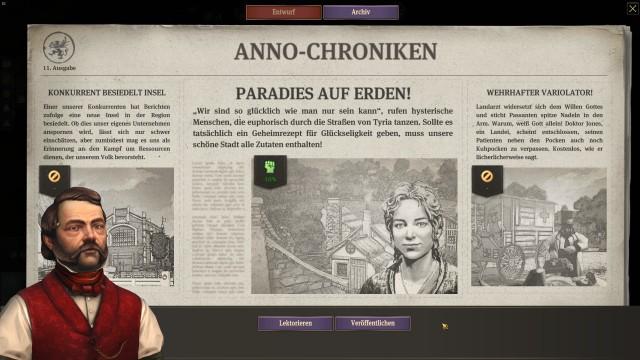 Screenshot: Die gibt nicht nur Infos, sondern lässt mich auch die Bürger beeinflussen