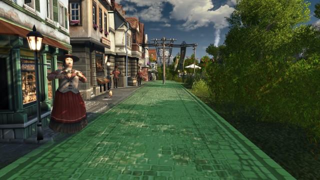 Screenshot: Sieht aus wie PS1, ist aber aus 2019: die First Person Ansicht von Anno 1800