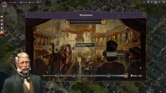 Screenshot: Die Weltausstellung ist nicht nur ein Bauwerk, sondern kann auch eine entsprechende Veranstaltung abhalten