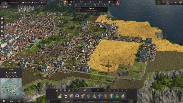 Screenshot: Die Landwirtschaft ist trotz der sich anbahnenden Industrialisierung ein wichtiger Teil des Spiels
