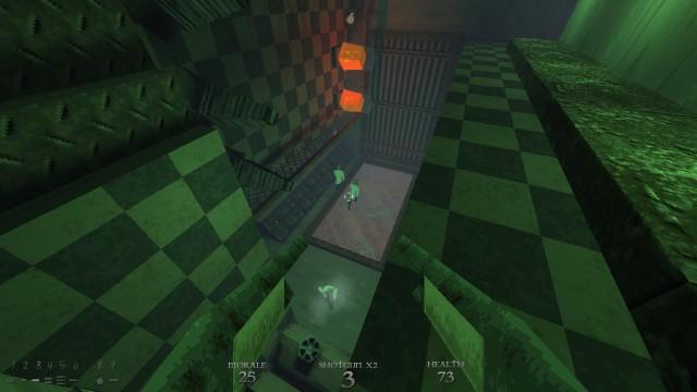 Screenshot: Bild aus dem Level Escher Labs