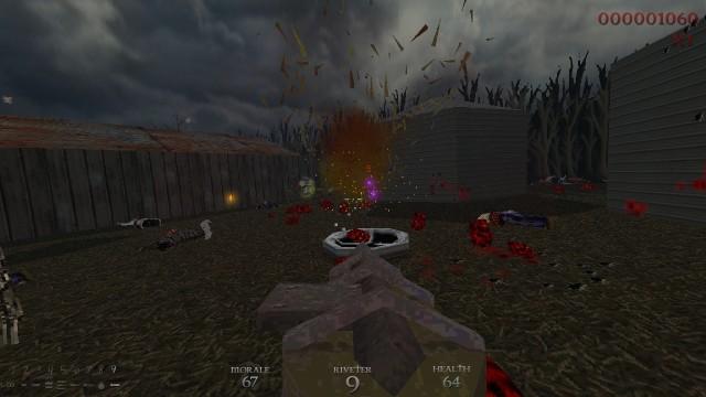 Screenshot: Endlosmodus von Dusk