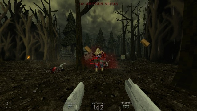 Screenshot: Kämpfe in Dusk sind schnell und direkt.
