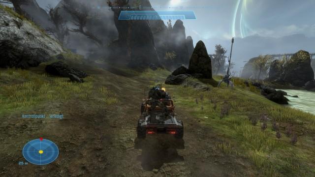 Screenshot: Fahrzeugsequenzen gehören seit Anfang an zur Halo-Serie.