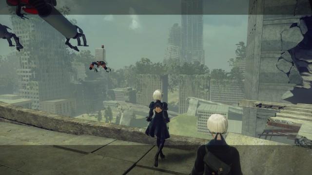Screenshot: Die Ruinen einer Stadt sind zentraler Ort der Spielwelt
