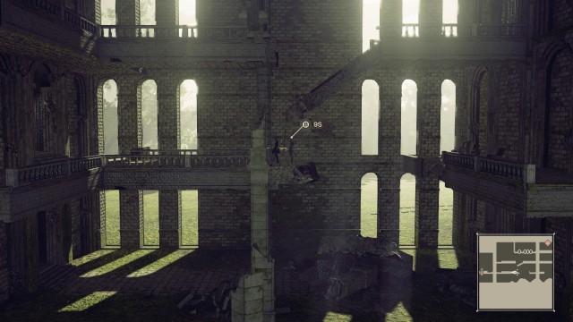 Screenshot: Das Schloss in der Forest-Stage ist komplett als Sidescroller gehalten