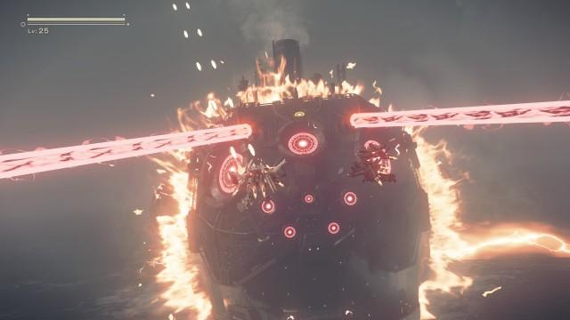 Screenshot: Bossfights sind spektakulär inszeniert und können lange dauern.