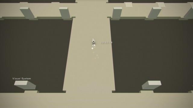 Screenshot: Im Hacking-Minispiel wechselt das Spiel in eine minimalistische Optik