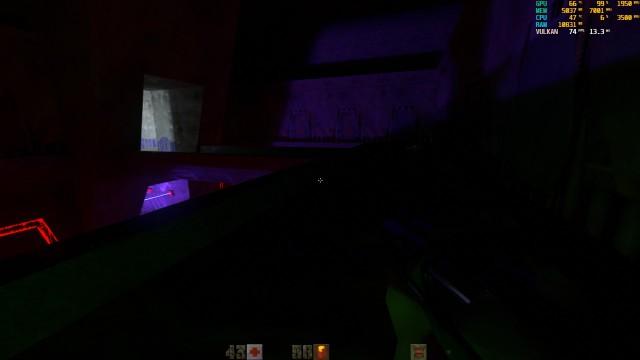 Screenshot: Ohne Ambientes Licht wird es je nach Level auch mal sehr dunkel