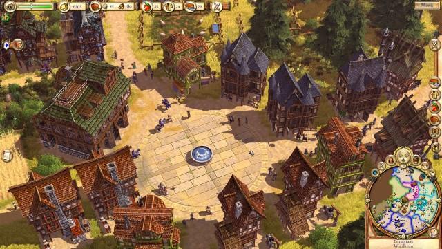Ein Stadtkern in Die Siedler 6 in der History Edition