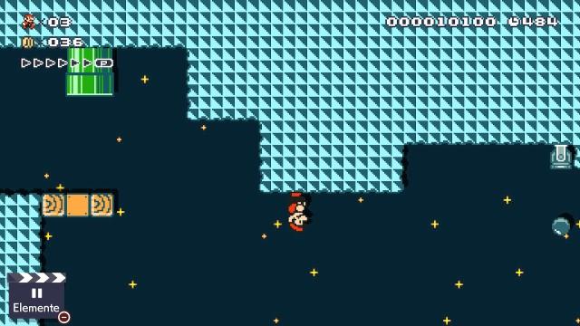 Screenshot: Ein Effekt des Nachtmodus ist umgekehrte Gravitation