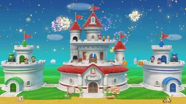Screenshot: Am Ende des Abenteuermodus darf man Peach's Schloss bestaunen