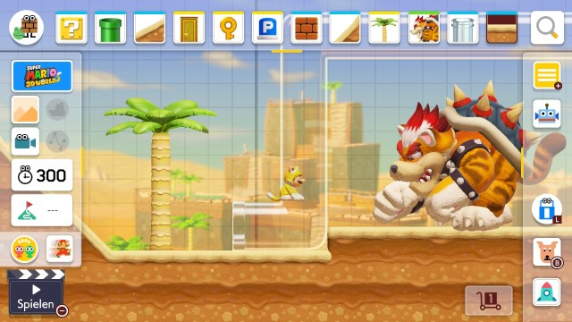 Screenshot: Im Super Mario 3D World Setting gibt es einige neue Teile und Mechaniken