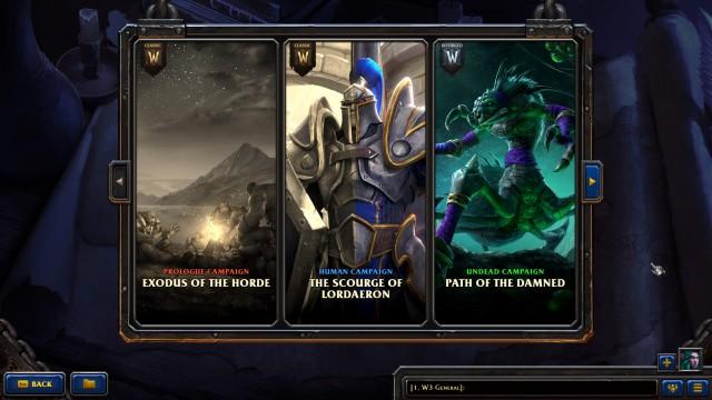 WarCraft 3 Reforged Kampagnen Menü