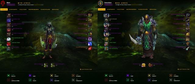 Vergleich 110 und 120er Demon Hunter