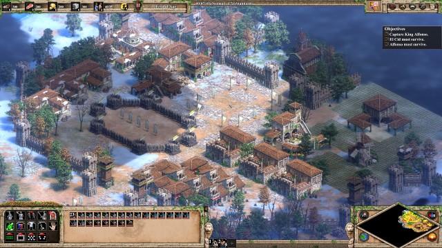 Screenshot: Die Spanier nutzen nur das mediterrane Gebäudeset, was besser zu ihnen passt als das allgemein, Westeuropäische