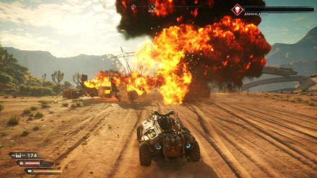 Screenshot: Ein zerstörter Konvoi endet in einer spektakulären Explosion