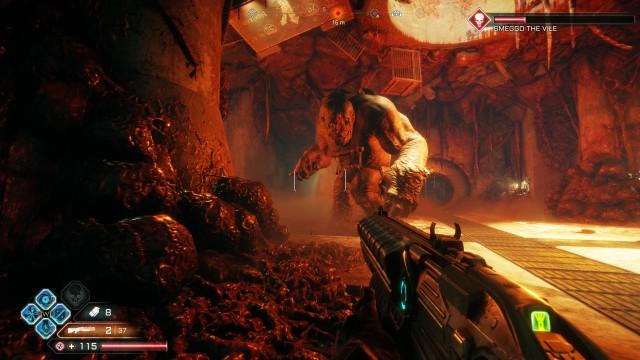 Screenshot: Mutanten Juggernaughts sind kleine Bossfights wo vor allem auf Movement wert gelegt wird.